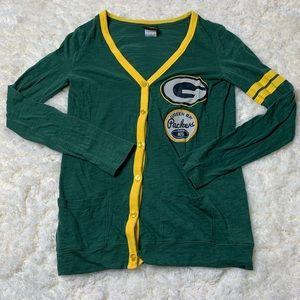 NFL Team Apparel Green Bay Packers Cardigan